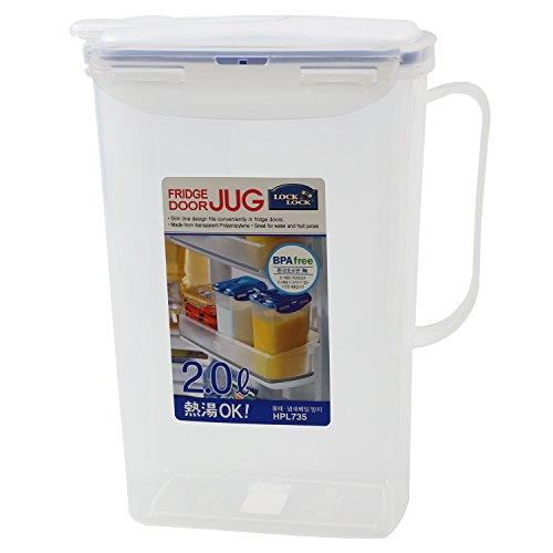 LOCK & LOCK Fridge Door Water Jug with Flip Top Lid 68 Oz / 2 liters from LOCK & LOCK