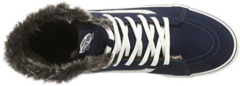 Vans Unisex Adults' Sk8-Hi Wool High-Top Sneakers Blue (Marshmallow) cheap geniue stockist for sale buy authentic online KMEzL4k