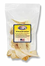 10 Pack Premium Lamb Ear Dog Chews by Shadow River - Product of the USA