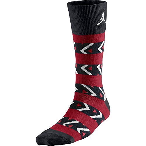 Jordan AJXI Riverwalk Crew 1 Men's Socks Black/Gym Red-White 654400-010 (Size - Riverwalk Outlet