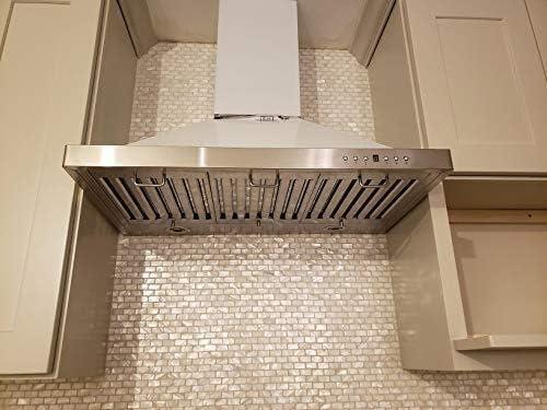 現代の壁紙テレビの背景リビングルームWallpa キッチンBacksplashes/浴室タイル、ホワイト地下鉄のモザイクタイル(6パック)のためのマザーオブパールのシェルモザイクタイル (Color : A19 Subway)
