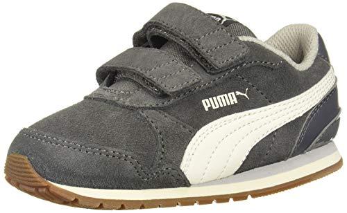 PUMA Unisex ST Runner Velcro Sneaker, Castlerock-Whisper White-Gray Violet, 2 M US Little Kid ()