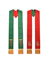 Blessume Priest Reversible Stole Red and Green