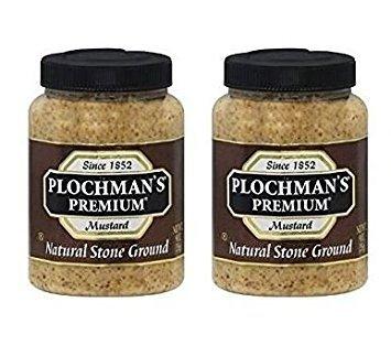 - Plochmans Stone Ground Mustard 9 oz (Pack of 2)