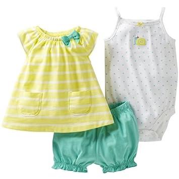 Amazon.com: De Carter Baby Girls 3 piezas Body y pañal cover ...