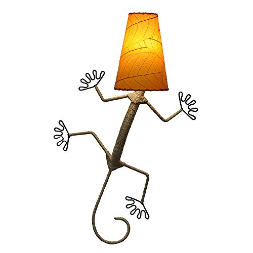 Eangee Home Designs Wall Sconce Lamp Light Gecko - Color Orange