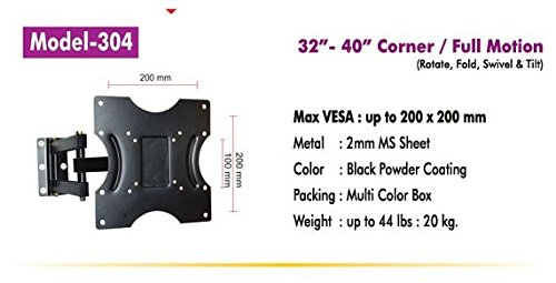 Royal Look Tv Wall Mount   32  Corner Mount  Swivel   Tilt  TV Wall   Ceiling Mounts