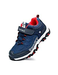 Troadlop Kids Hiking Shoes Waterproof Athletic Running Walking Sneakers for Boys Girls