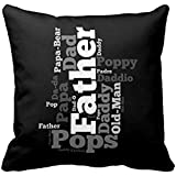 Black And White Father Word Collage Throw Rdb5b6b1aca03464392f5c33384619272 I5fqz 8byvr Pillow Case