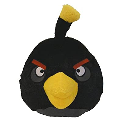 Angry Birds 16 Plush Black Bird With Sound from Commonwealth Toy