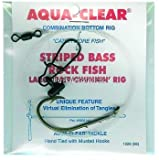Aqua Clear ST-7BHFF Striped Bass Fish Finder Rig, Size 7/0, Nickel Finish