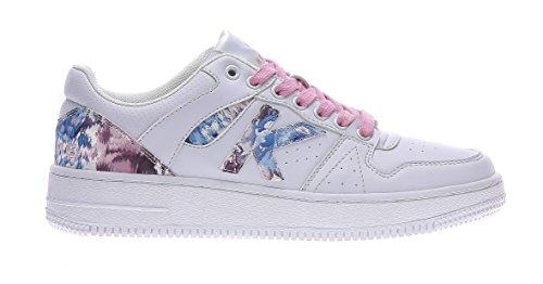 Donna Retro Suede Sneaker Basket Bianco 534 white Rosa Kelme wIqdPZd