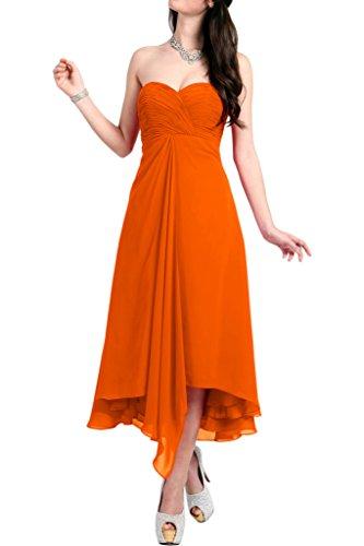 Orange Cocktailkleider mia Linie Braut Damen Orange Partykleider A Chiffon Wadenlang Kurzkleider La Abendkleider 6d7XwqXn