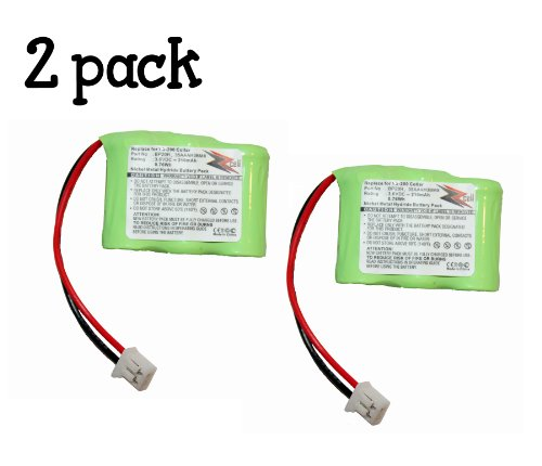 2-Pack ZZcell Battery for Dogtra Receiver BP20R 175NCP, 200NCP, 202NCP, 280NCP, 282NCP, 300M, 302M, 7000M, 7002M, EF-3000 Old, YS-200 Remote Controlled Dog Training Collar -