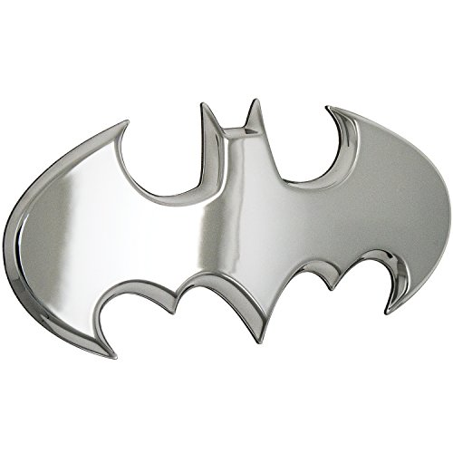 Fan Emblems Batman Car Badge, Chrome Batwing Logo 3D Automotive Sticker Decal, Flexes to Fully Adhere to Most Smooth Surfaces - Vehicles, Laptops, Windows, Almost Anything -