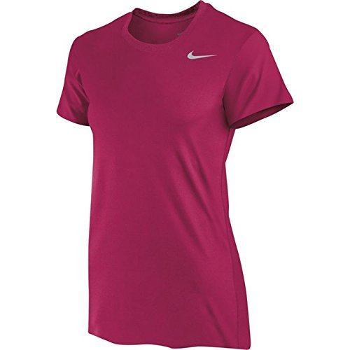 Nike Women's Legend Shirt Short Sleeve (Large, Crimson)