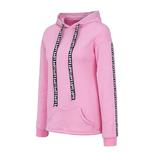 Femme Hiver Veste Sweat Décontractée Fille Sport Longues Rose shirts Taille Sweats Amuster Hooded Sweatshirt Grande Hoodie Tops Sweat Capuche Manches Swag Coton Manteau Pull À Robe 6PxtCwnTqH
