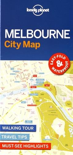 Lonely Planet Melbourne City Map (Travel Guide)