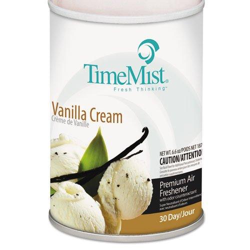 TimeMist Metered Aerosol Fragrance Dispenser Refills, Vanilla Cream, 6.6oz - 12 aerosol air freshener refills. by Timemist