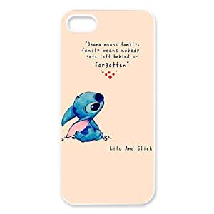 DiyCaseStore Custom Personalized Disney Lilo and Stitch iPhone 5 5S Best Durable Cover Case - Ohana means family,family means nobody gets left behind,or forgotten. by ruishername