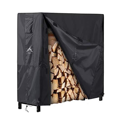 Himal Log Rack Cover Waterproof Firewood Cover Fit 4FT Wood Rack
