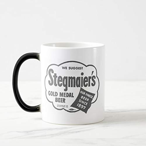 Zazzle Kitsch Vintage Stegmaier's Beer Logo Magic Mug Black/White Morphing Mug, 11 ()