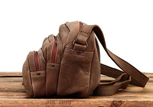 LE CHARLIE Maronne Taupe borsa in pelle stile vintage PAUL MARIUS