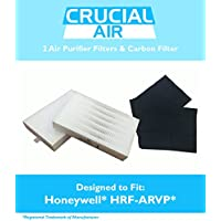 2 Honeywell R Air Purifier Filter & 1 A Carbon Filter Kit Fits HPA090 series, HPA100 series & HPA300 series, Compare to Part # HRF-ARVP, Designed & Engineered by Crucial Air