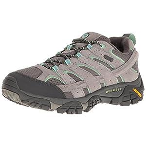 Merrell Women's Moab 2 Waterproof Hiking Shoe, Drizzle/Mint, 10 M US