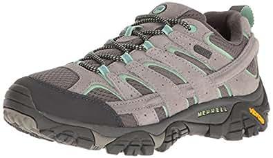Merrell Women's Moab 2 Waterproof Hiking Shoe, Drizzle/Mint, 5 W US
