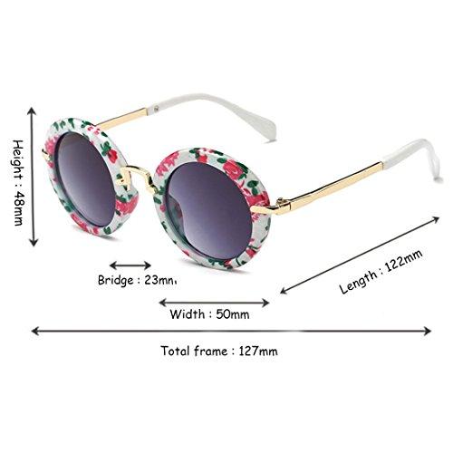 Fashion UV La Aiweijia Protección Eyes Sun Color Children's Round de Sun Flor Glasses New Frame Sunglasses HqRwFnfRYB