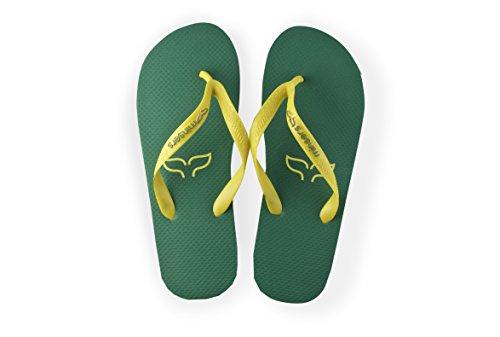 Diseño para Green yellow Hombre y Piscina Mujer Unisex y Chanclas Playa Atractivo wnYRqOIS