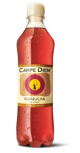 Carpe Diem Kombucha Tea, 16.9 Ounce Bottles (Pack of 12)