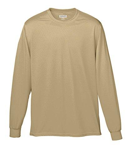 - Augusta Sportswear Wicking Long Sleeve T-Shirt, Medium, Vegas Gold
