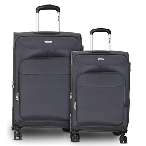 AGARO Apollo Set of 2 56cm+68cm Polyester Grey Softsided Suitcase/Luggage