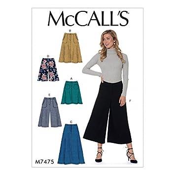 McCall \'s Damen Schnittmuster 7475 Ausgestellte Röcke, Shorts ...