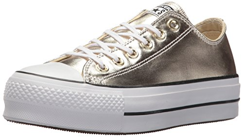 Converse Women's Chuck Taylor CTAS Lift Ox Canvas Fitness Shoes, Gold (Gold/Black/White 743), 6 UK]()