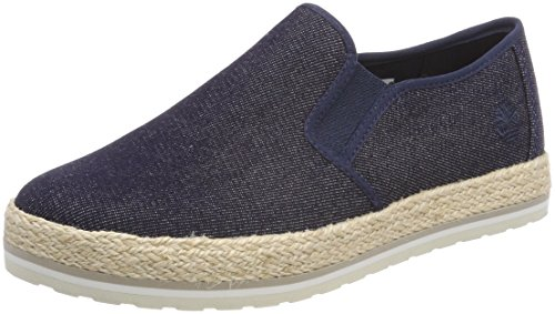 Timberland Bleu Elvissa Canvas Femme Enfiler Baskets 484 Sea denim qA6qUWZpn