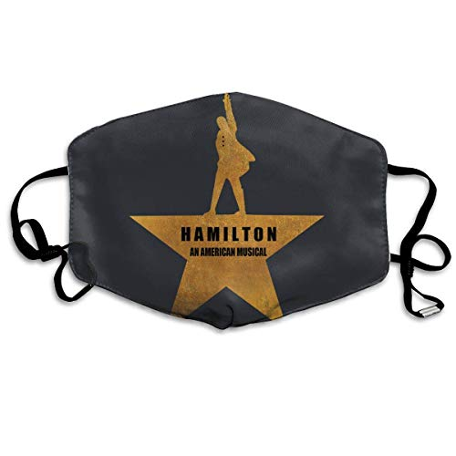 Hamilton an American Musical Fashion Mouth Mask Unisex Dust Protection Pollution Germs Allergens Windproof Half Face Masks Black]()