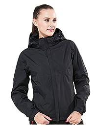 Women's Winter 2in1 Hooded Waterproof Jacket with Down Inner Rock Climbing Coat