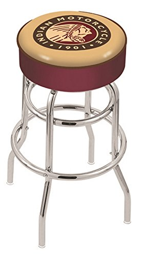 Holland Bar Stool L7C1 Indian Motorcycle Swivel Counter Stool, 25