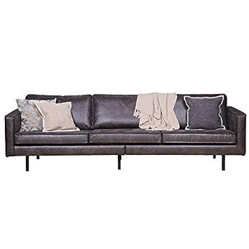 Lounge sofa leder  3 Sitzer Sofa RODEO Echtleder Leder Lounge Couch Garnitur Vintage ...