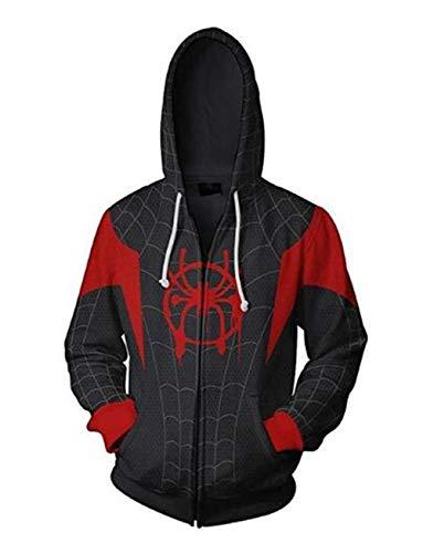 Unisex Superhero 3D Printed Pullover Hoodie Cosplay Costume ()