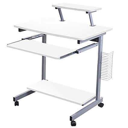 Lydan – takoma blanco mesa de ordenador escritorio compacto para ...