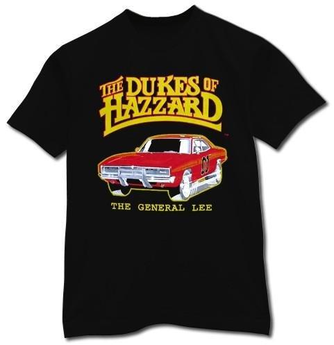 Dukes of Hazzard General Lee T-shirt Black (Medium)