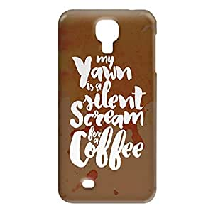 Loud Universe Samsung Galaxy S4 My Yawm Is a Silent Scream For A Coffee Print 3D Wrap Around Case - Multi Color