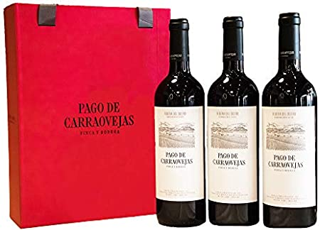 Pago de Carraovejas - 3 Botellas 75 cl,Estuche de Regalo - Vino Ribera del Duero,Tinto Fino (Tempran