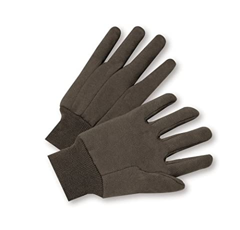 West Chester Master Guard 65090/Large 12pk Brown Jersey Glove Contractor Pk (Boss L12)