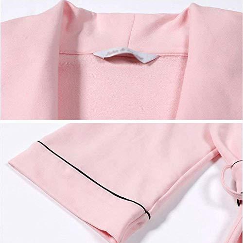 Dormir Sólido Vestido Manga Mujer Vintage Tie bow Camisones Color Larga Albornoz Moda Rosa Camisón Bandage Caliente De vAYqwdqE
