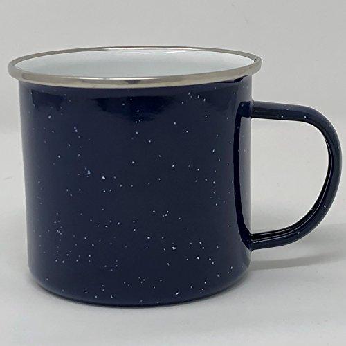 Barvinci Classic 17oz Porcelain Enamel Campfire Mug (Blue)